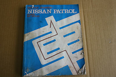 Nissan Patrol 60 series workshop manual