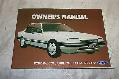 Ford Falcon 1987 owners manual.