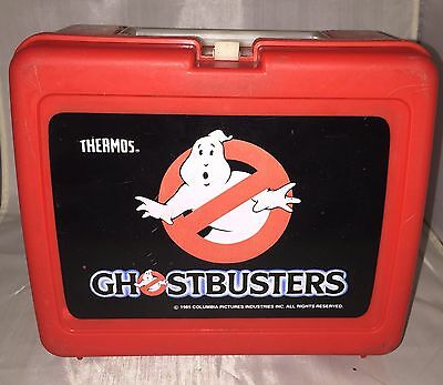 Vintage Aladdin 1985 Original GHOSTBUSTERS Plastic Lunchbox No Thermos
