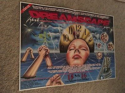 Dreamscape 15 VS 16 A3 Rave Flyer New Years Eve 1994 Rave Flyer Rare