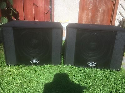 """Pair of Peavey Messenger Pro Sub MKII 15"""" Passive PA Subwoofers"""