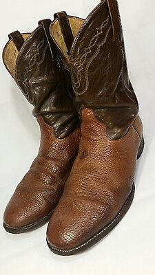 TONY LAMA Size 11EE Brown Leather~2055~Vibram Sole~Mens Western~Cowboy Boots!