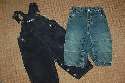 Lot of Boys - Baby Gap Overalls and Jeans  ...size 12-18 Months