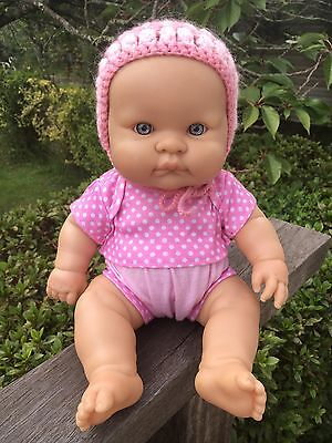 Ultra Cute 34cm Berenguer Baby Doll Hard Body Pink outfit Blue Eyes