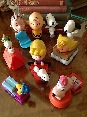 Bulk Lot Of 8 Snoopy Peanuts Charlie Brown McDonald's Toys Figures