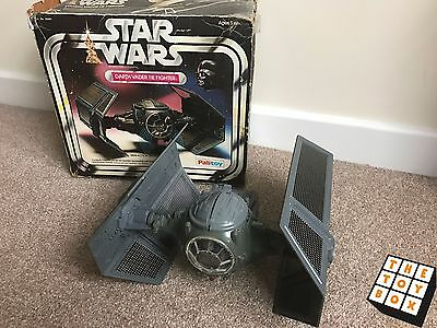 Vintage Star Wars ANH Boxed Palitoy Darth Vader's Tie Fighter *working*