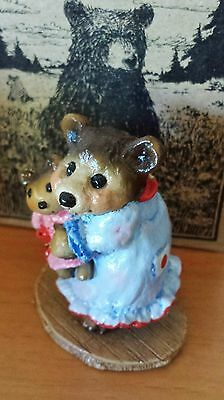 Wee Forest Folk, NAPTIME WITH DOLLY #BB-14 Special Pale Blue Gown, Japan Mint
