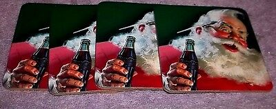 4 Santa Clause Coke Coca Cola Corkboard Drink Coasters Bar Advertisement #2