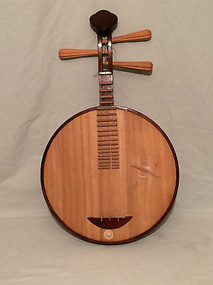 Antique Chinese Ruan Moon Guitar  RARE 3 stringed Chinese lute.