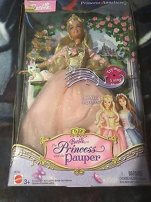The Princess And The Pauper Barbie Anneliese  Mattel Doll Dead battery