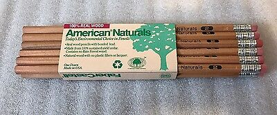 Faber Castell Vintage Cedar Wood Pencils, Certified Non Toxic, American Naturals