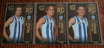 2016 AFL SELECT CERTIFIED ROOKIE North Melbourne x 3 cards