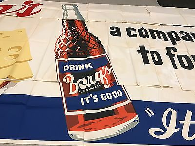 "RARE 1963 Barq's Rootbeer Billboard Poster Sign Large 20' X 9'  ""It's Good"""