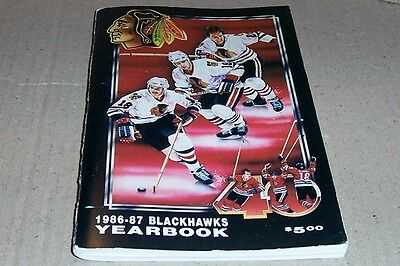 1986-87 Chicago Black Hawks Fact Book Media Guide Yearbook