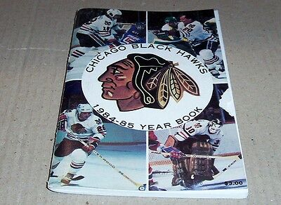 1984-85 Chicago Black Hawks Fact Book Media Guide Yearbook