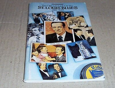 1982-83 St Louis Blues Media Guide Yearbook Playoff Record Book Included