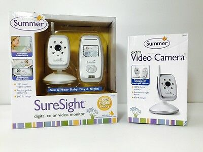 Summer Infant Sure Sight Digital Color Video Baby Monitor With Extra Camera!