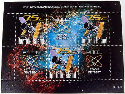 2001 Norfolk Island Space Stamps Sheet Stamp Odyssey New Zealand Nat Stamp Expo