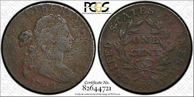 1798 1C 2nd Hair Style BN Draped Bust Cent