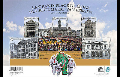BELGIUM 2015,The Marketplace of Mons and the Doudou SHEET MNH(fr)