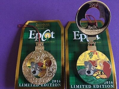 Disney Pin Epcot Holidays Around the World 2016 Passholder Lady and The Tramp
