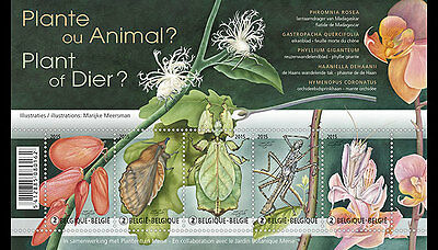 BELGIUM 2015,Plant or Animal? SHEET MNH(fr)