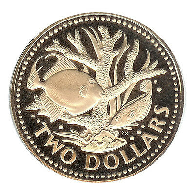 Barbados - 2 Dollar 1974 Proof Deep Cameo