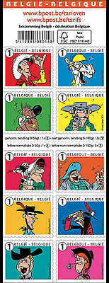BELGIUM 2015,Lucky Luke, friend and enemy, Stamp Booklet MNH (fr)