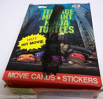 1990 Teenage Mutant Ninja Turtles TMNT Empty DISPLAY BOX Gum Cards No Wax Packs