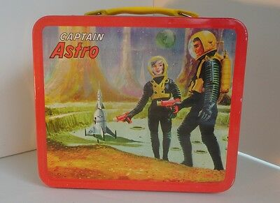 Vintage CAPTAIN ASTRO repro Lunch Box by G Wiz