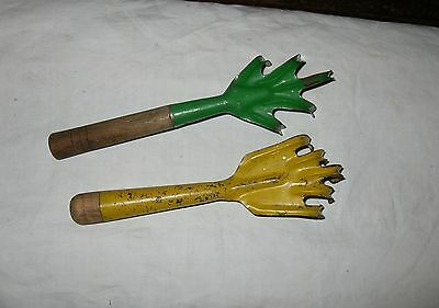 2 Vintage Garden Cultivator Tools Hand Rake Hand Claw Digger Vintage Weed Hoes