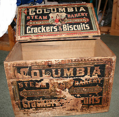 Antique/ Vintage Steam Bakery Bread Crate / Box Columbia PA Dovetail WA King