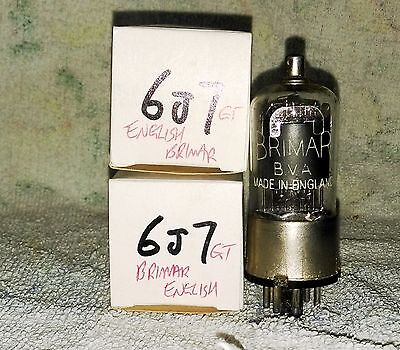 Used-in-box 6J7GT (VT91A) vacuum tube radio TV valve, TESTED