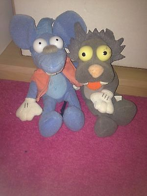 The Simpsons Itchy and Scratchy beanie plush set duo 1999