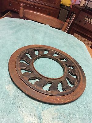 Victorian Cast Iron Round Stove Pipe Ceiling Floor Register Grate Chimney Vent