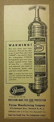 1948 Pyrene Fire Extinguisher Ad