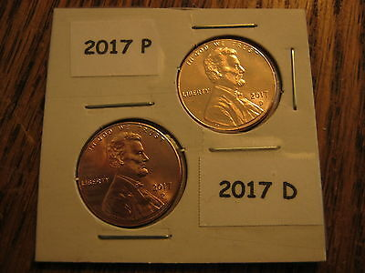 2017 P&D SHIELD LINCOLN CENT FROM OBW ROLL -Gem BU READY TO SHIP Today