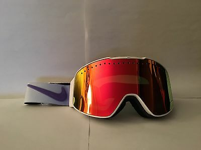 New Nike Fade White/Purple Haze Goggle Red Ion + Yellow Red Ion Lens