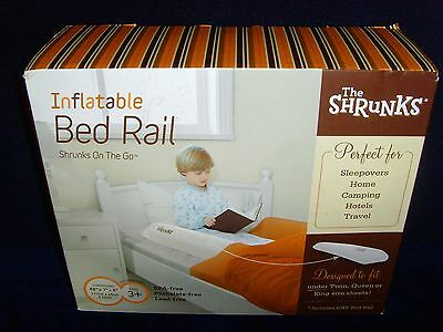 "Brand New in Box•The Shrunks•Toddler•Inflatable Bed Rail•Sealed•Unopen•48""x7""x4"""