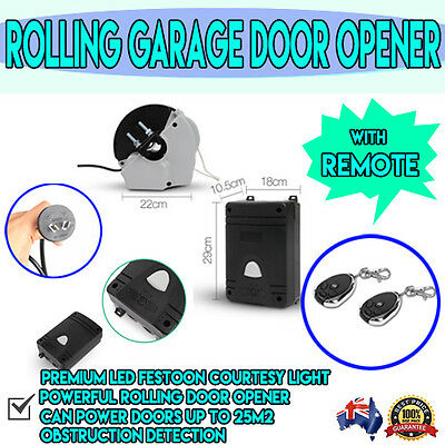 Lockmaster Automatic LED Light Electric Garage Roller Door Opener W/ 2 x Remotes
