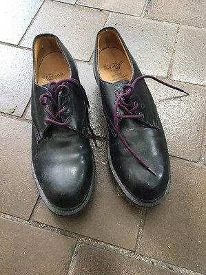 Doc Martens Black Leather Shoes Unisex Size UK 6