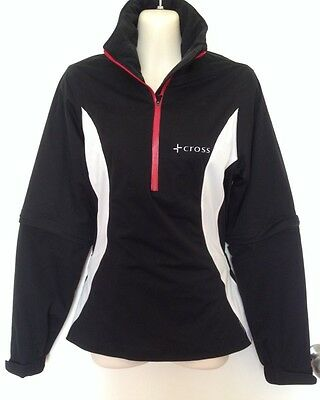 CROSS Ladies Golf Rainwear.  Jacket And Trousers. Black And White. Size XS/S