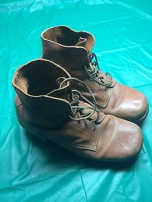 Australian WW1 BROWN LEATHER ANKLE BOOTS