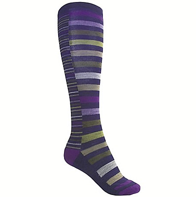 BRAND NEW! SmartWool Women's Sassy Stripe Knee High Wool Socks Large 10 - 12.5