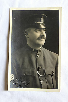 WW1 photo / postcard / ephemera Portrait officer?? 'Palmers Green'