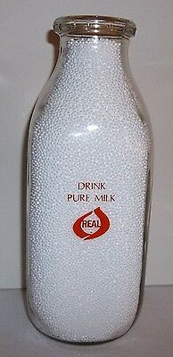 Drink Pure Milk Real Logo 100th Anniversary Of The Glass Milk Bottle Pyro Quart