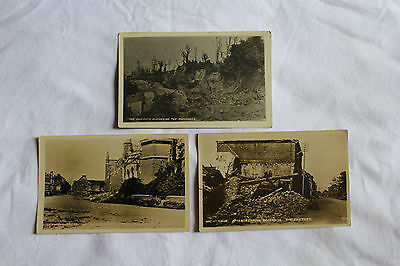 WW1 photo / postcard / ephemera x3  'After the German Offensive' St Maur,Ypres +