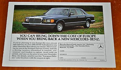 Buying A 1985 Mercedes Benz 300 Sd In Europe Ad - Retro 80S Vintage