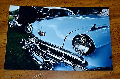 Photo 1954 Chevy Bel Air Close-Up In Montreal Quebec Canada 2003 - Vintage