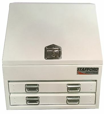 Stafford Steel Fabricated 2 Drawer Heavy Duty Angled Ute Tool Box.